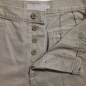 J Crew Button-Fly Khaki Shorts with Square Pockets